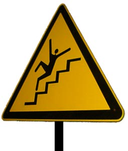 Falling up stairs?