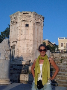 Me, four days ago, at the Tower of the Winds in the Roman Agora at the Acropolis.