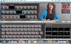 Editing in IMovie--titles in the lover right